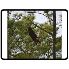 Bald Eagle 2 Double Sided Fleece Blanket (large)