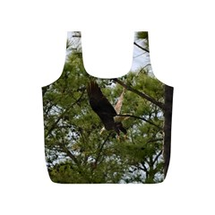 Bald Eagle 2 Full Print Recycle Bags (S)