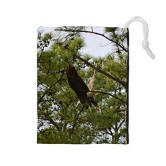 Bald Eagle 2 Drawstring Pouches (Large)