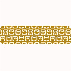 Olive And White Owl Pattern Large Bar Mats