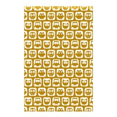 Olive And White Owl Pattern Shower Curtain 48  x 72  (Small)