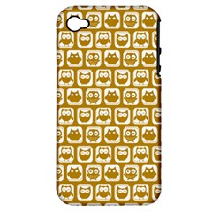 Olive And White Owl Pattern Apple iPhone 4/4S Hardshell Case (PC+Silicone)