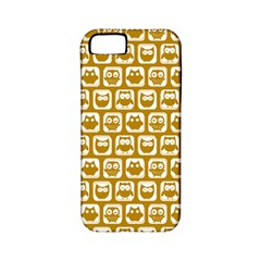 Olive And White Owl Pattern Apple iPhone 5 Classic Hardshell Case (PC+Silicone)