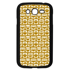 Olive And White Owl Pattern Samsung Galaxy Grand DUOS I9082 Case (Black)
