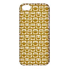 Olive And White Owl Pattern Apple iPhone 5C Hardshell Case