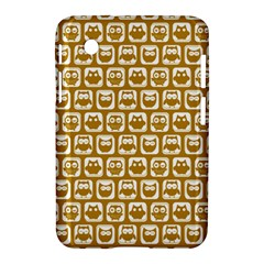 Olive And White Owl Pattern Samsung Galaxy Tab 2 (7 ) P3100 Hardshell Case