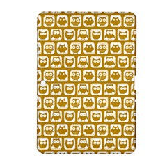 Olive And White Owl Pattern Samsung Galaxy Tab 2 (10.1 ) P5100 Hardshell Case