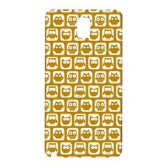 Olive And White Owl Pattern Samsung Galaxy Note 3 N9005 Hardshell Back Case