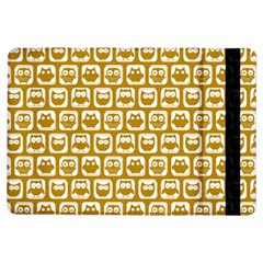 Olive And White Owl Pattern iPad Air Flip