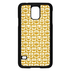 Olive And White Owl Pattern Samsung Galaxy S5 Case (Black)