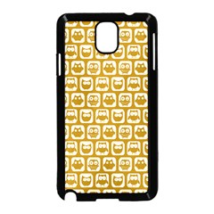 Olive And White Owl Pattern Samsung Galaxy Note 3 Neo Hardshell Case (Black)