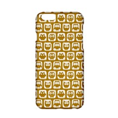 Olive And White Owl Pattern Apple iPhone 6/6S Hardshell Case