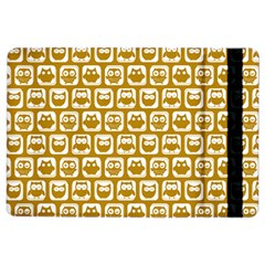 Olive And White Owl Pattern iPad Air 2 Flip