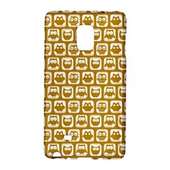 Olive And White Owl Pattern Galaxy Note Edge