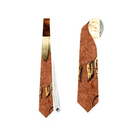 Steampunk, Funny Owl With Clicks And Gears Neckties (Two Side)