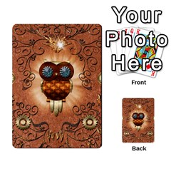 Steampunk, Funny Owl With Clicks And Gears Multi-purpose Cards (Rectangle)