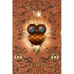 Steampunk, Funny Owl With Clicks And Gears 5 5  X 8 5  Notebooks