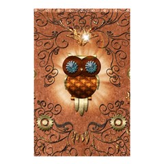 Steampunk, Funny Owl With Clicks And Gears Shower Curtain 48  x 72  (Small)