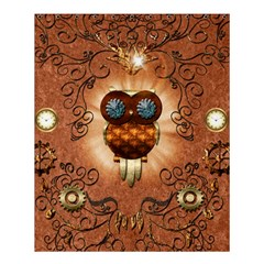 Steampunk, Funny Owl With Clicks And Gears Shower Curtain 60  x 72  (Medium)