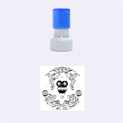 Steampunk, Funny Owl With Clicks And Gears Rubber Round Stamps (small)
