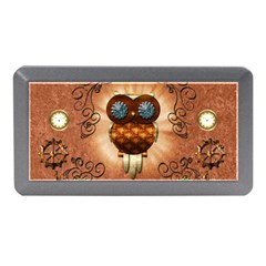 Steampunk, Funny Owl With Clicks And Gears Memory Card Reader (Mini)