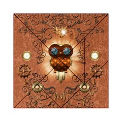 Steampunk, Funny Owl With Clicks And Gears Acrylic Tangram Puzzle (6  x 6 )
