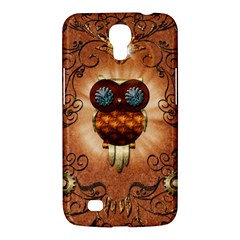 Steampunk, Funny Owl With Clicks And Gears Samsung Galaxy Mega 6.3  I9200 Hardshell Case