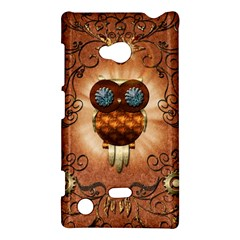 Steampunk, Funny Owl With Clicks And Gears Nokia Lumia 720