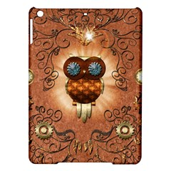 Steampunk, Funny Owl With Clicks And Gears iPad Air Hardshell Cases