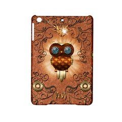 Steampunk, Funny Owl With Clicks And Gears iPad Mini 2 Hardshell Cases