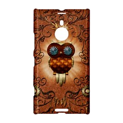 Steampunk, Funny Owl With Clicks And Gears Nokia Lumia 1520