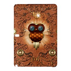 Steampunk, Funny Owl With Clicks And Gears Samsung Galaxy Tab Pro 10.1 Hardshell Case