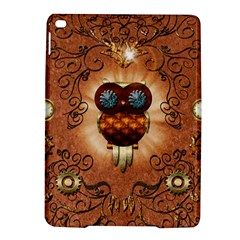 Steampunk, Funny Owl With Clicks And Gears iPad Air 2 Hardshell Cases