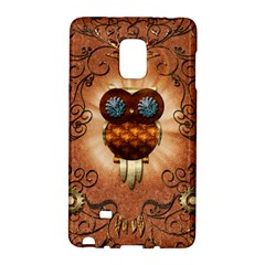 Steampunk, Funny Owl With Clicks And Gears Galaxy Note Edge