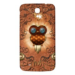 Steampunk, Funny Owl With Clicks And Gears Samsung Galaxy Mega I9200 Hardshell Back Case