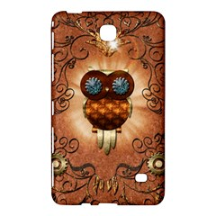 Steampunk, Funny Owl With Clicks And Gears Samsung Galaxy Tab 4 (8 ) Hardshell Case