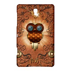 Steampunk, Funny Owl With Clicks And Gears Samsung Galaxy Tab S (8 4 ) Hardshell Case
