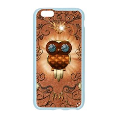 Steampunk, Funny Owl With Clicks And Gears Apple Seamless iPhone 6 Case (Color)
