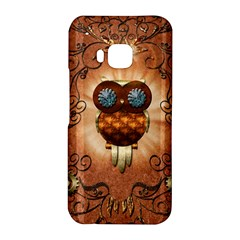 Steampunk, Funny Owl With Clicks And Gears HTC One M9 Hardshell Case
