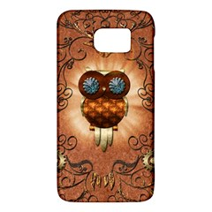 Steampunk, Funny Owl With Clicks And Gears Galaxy S6