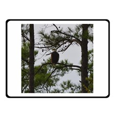 Bald Eagle 3 Double Sided Fleece Blanket (small)