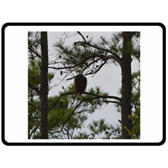 Bald Eagle 3 Double Sided Fleece Blanket (large)