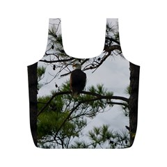 Bald Eagle 3 Full Print Recycle Bags (M)