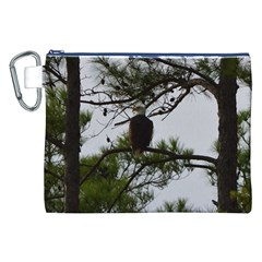 Bald Eagle 3 Canvas Cosmetic Bag (XXL)