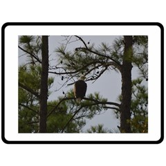 Bald Eagle 4 Fleece Blanket (large)