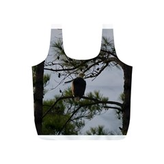 Bald Eagle 4 Full Print Recycle Bags (S)