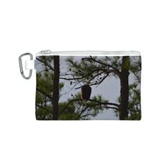 Bald Eagle 4 Canvas Cosmetic Bag (S)