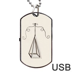 PyramidNatural Dog Tag USB Flash (Two Sides)