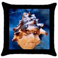 Sea Shell Spiral Throw Pillow Cases (Black)