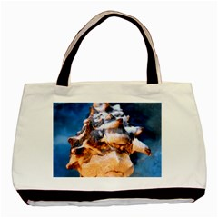 Sea Shell Spiral Basic Tote Bag (Two Sides)